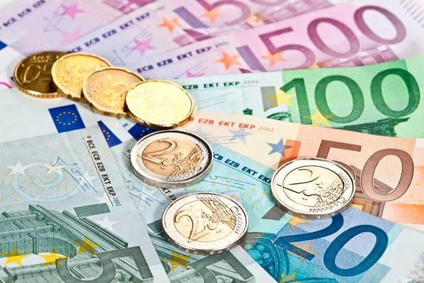 Eurokolikoita ja setelejä