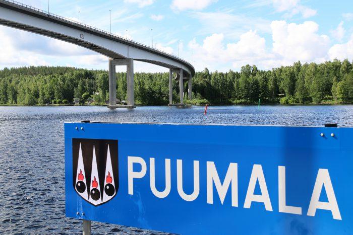 Puumala-vaakunakyltti, Saimaa ja silta